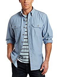 Men's Fort Lightweight Chambray Button Front Relaxed Fit...