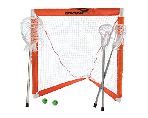 Brine Lacrosse Mini Lacrosse Set (Includes 2 Mini Sticks,...