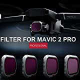 Filter Set for Mavic 2 Pro, Elevin(TM) for DJI Mavic 2 Pro Drone ND8 ND16 ND32 ND64 Waterproof Camera Lens Filters