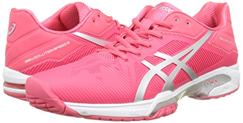 Chaussures Rouge solution white Gel Femme Red rouge Asics Tennis De Speed silver 3 4Iwn78q5
