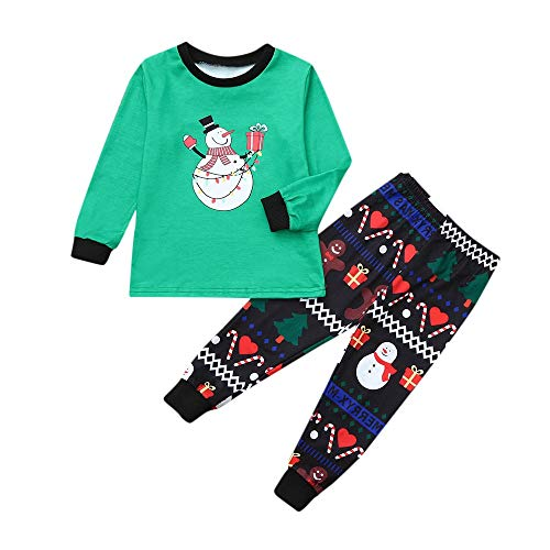 Sales Continental Tv - Christmas Family Pajamas Cartoon Snowman Print Romper Long Sleeves Family Clothes,Rakkiss