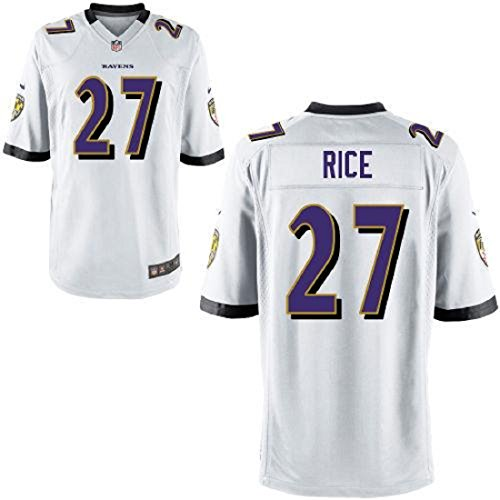 Ray Rice Baltimore Ravens #27 Youth On Field Jersey White (Youth Medium 10/12) (Rays Jersey Youth)