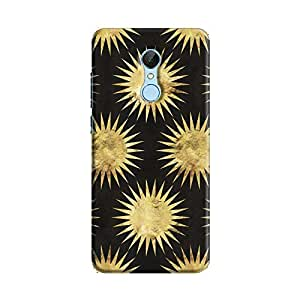 Cover It Up - Gold Black Star Redmi 5 Hard Case
