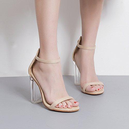 crystal da di band 10cm scarpe sandali i una tacchi 39 brutto tacchi tacchi notturni locali super albicocca GTVERNH parola sexy donna IwqCTnx1Sg