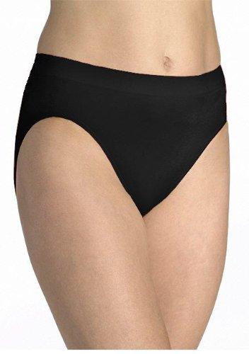 Bali Women Passion For Comfort Microfiber Stretch Hi-Cut Brief - 3 Pack White M/6
