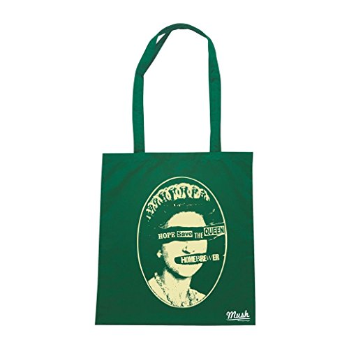 Borsa Hope Save The Queen Homebrewer - Verde Bottiglia - Famosi by Mush Dress Your Style