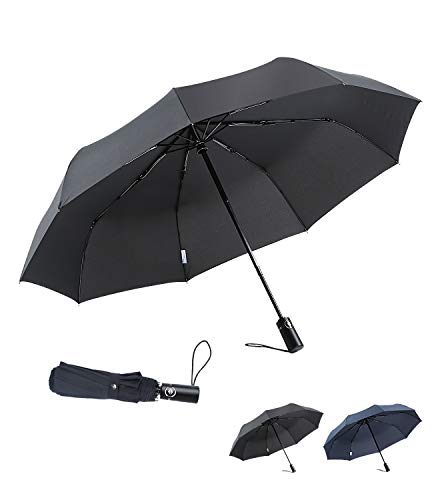 boy Windproof Travel Umbrella, Compact Umbrella Automatic Open Close, Upgraded 9 Ribs Reinforced Windproof Frame