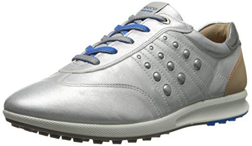 ECCO Women's Street Evo One Sport Golf Shoe, White/Buffed Silver, 37 EU/6-6.5 M US