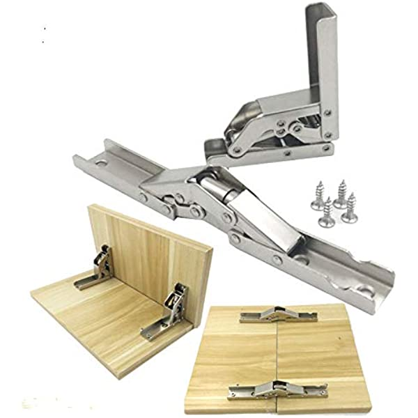 La puerta plegable de 90 grados / la bisagra del estante colgó las piezas de los muebles del tenedor de la tabla del ...