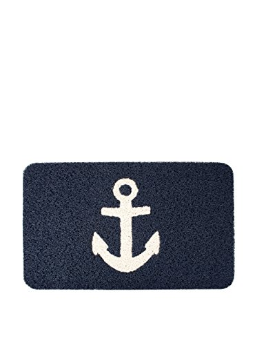 Kikkerland Anchor Doormat, 30 by 18-Inch (Outdoor Anchor Decor)