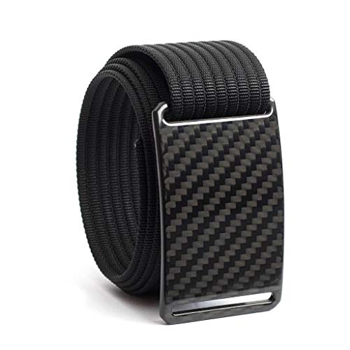 44 Inch Dark Matter Carbon Fiber Belt Buckle w/Black Strap