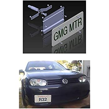 GMG Motorsports VW MKIV NO HOLES License Plate Bracket Kit (2002-2005 Jetta, Golf, GTI, R32)