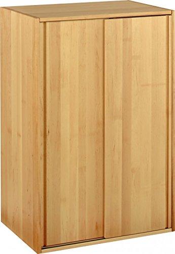 BioKinder 22815 Laura Schrankelement Kinder-Kleiderschrank mit Schiebetüren aus Massivholz Erle 120 x 80 x 55 cm