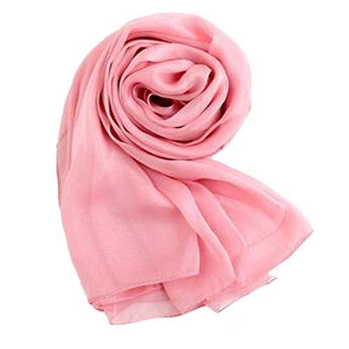 Surdimensionné Foulard en soie Châle Plage Wrap Foulards Foulard, Rose