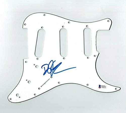Deryck Whibley Sum 41 Autographed Signed Pickguard Certified Authentic BAS COA - Beckett Authentication