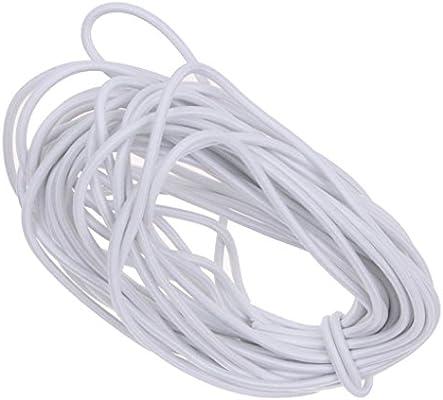 12 Yards Ninepeak 1//8-Inch Heavy Stretch Round String Elastic Cord Black