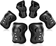 Kids Protective Gear Set, Skate Gear 6 Pack Protective Gear, Knee Pads, Elbow Pads and Wrist Guards, Inline Sk