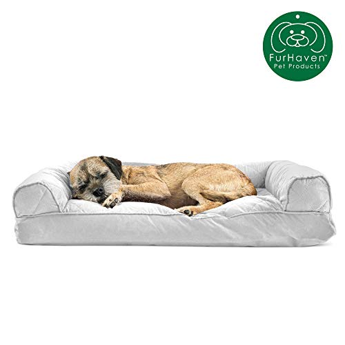 Furhaven Pet – Sofa-Style Dog Pillow Bed & Traditional Orthopedic Foam Mattress Dog Bed for Dogs & Cats – Multiple…