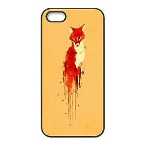 Cute fox art Unique Design Hard Pattern Phone Case Cover For For iphone 5,5S Case FKGZ488052