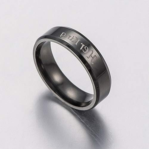 Campton King and Queen Couple Rings Stainless Steel Crown Rings Love Promise Rings | Model RNG - 12075 | 11