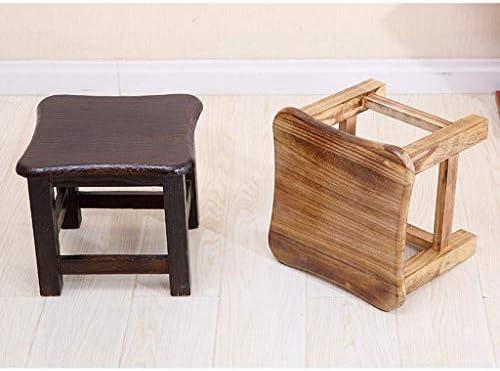 YUMUO Tabouret en Bois Massif Adulte Petit Banc Mode Canapé Famille Table Basse Bûches de pin Léger et Solide sans formaldéhyde (Couleur: Jaune)
