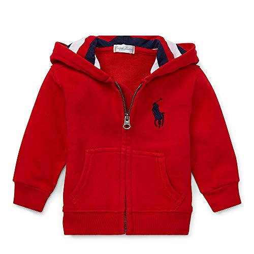 - Polo Ralph Lauren Baby Boy's Cotton French Terry Hoodie, 24 Months, Red