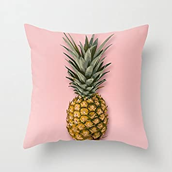 Cute Pineapple Pillow Covers Decorative Accent Pillows Case 16 X 16 For  Living Room Sofa