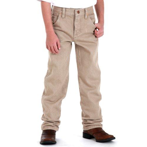 Wrangler Little Boys' Toddler Cowboy Cut Jeans, Prewashed Tan, 1T Regular by Wrangler