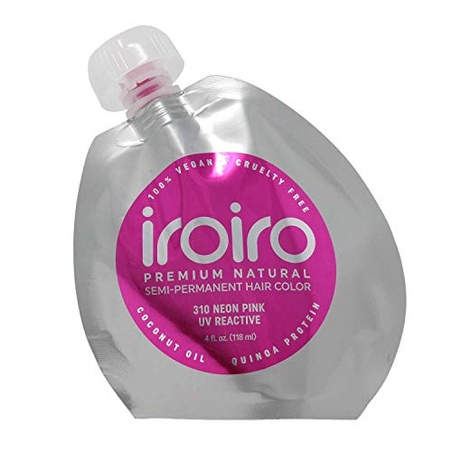 IROIRO Premium Natural Semi-Permanent Hair Color 310 Neon Pink (4oz)