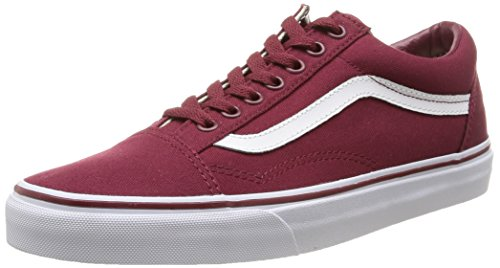 Vans Unisex Old Skool Classic Skate Shoes Canvas Cordovan