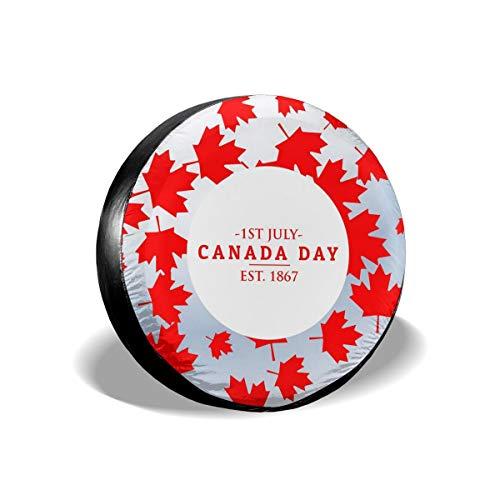 LionRiver Canada Day 1867 Spare Tire Wheel Cover for Car SUV Camper TruckCRV (14'',15'',16'',17'' Tyre Diameter)