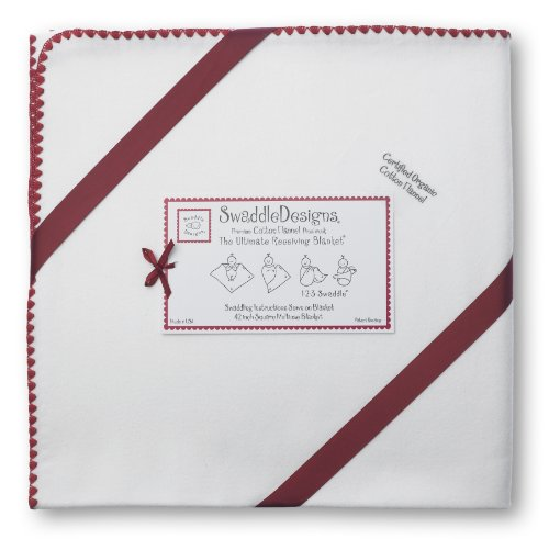 SwaddleDesigns Organic Ultimate Receiving Strawberry