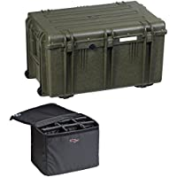 Explorer Cases 7641KTGQ 7641 Case with Custom Removable Padded Divider Bag for Cameras or Similar Electronic Gear and Organizer Lid Panel (Olive)