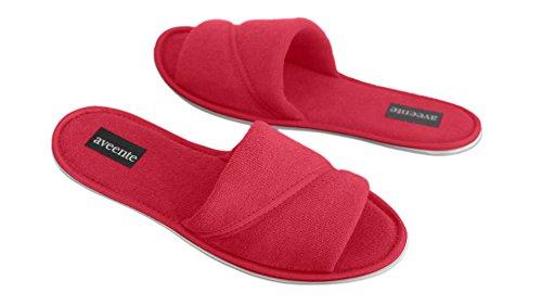 aveente - Zapatillas de estar por casa para mujer Red