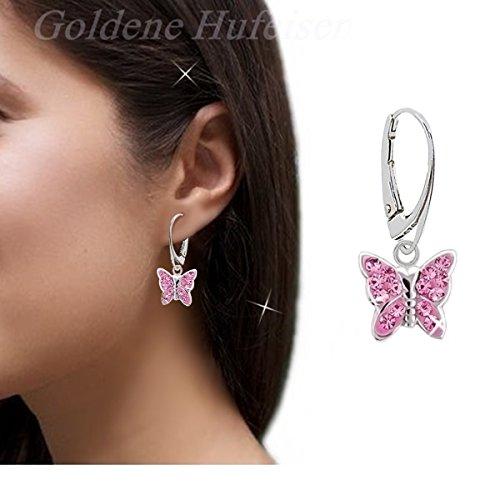 b78ebbf578ee Pendientes de mariposa de cristales rosa