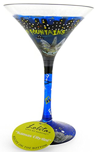 Lolita Kansas City City-tini Martini Glass Retired - Beverage Vino Bar - Kansas City Shopping Plaza