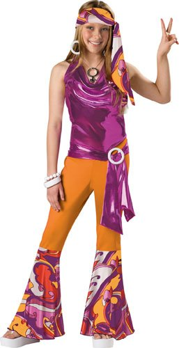 InCharacter Costumes Tween Kids Dancing Queen Costume, Orange/Purple, Small