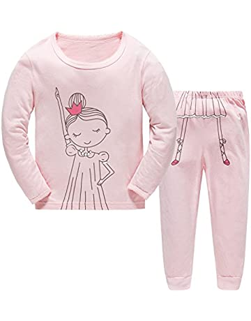 d090f4452c Papoopy Girls Super Cute Princess Pajama Set 2-7 Years