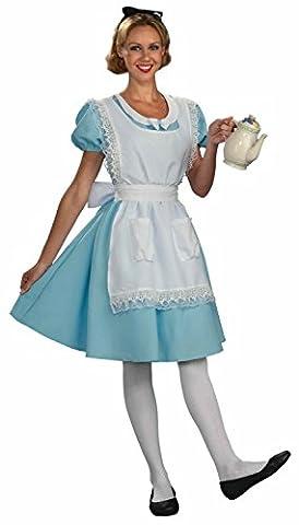 Forum Novelties Womens Alice Halloween Party Wonderland Costume Blue XL - Alice & Olivia Silk Blouse