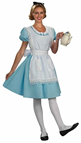 Forum Novelties Womens Alice Halloween Party Wonderland Costume Blue XL -