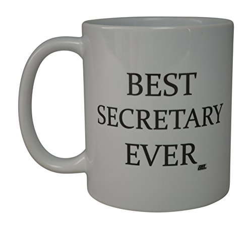 Rogue River Funny Coffee Mug Best Secretary Ever Novelty Cup Great Gift Idea For Secretary Coworker Office Friend (Secretary)