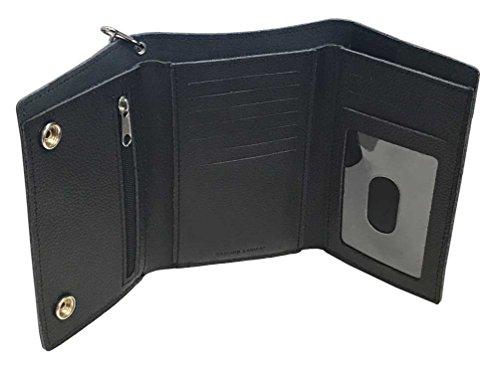 Harley-Davidson® Men/'s Embossed Bar /& Shield® Tri-Fold Plus Wallet XML3514-Blk