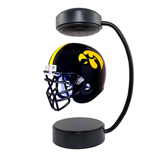 Iowa Hawkeyes NCAA Hover Helmet - Collectible Levitating Football Helmet with Electromagnetic Stand - Iowa Hawkeyes Mini Helmet