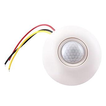 COLEMETER® Interruptor Techo Sensor Detector Movimiento Infrarrojo 5LUX-500LUX para Lámpara
