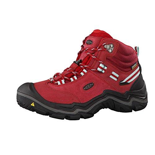 Keen Wanderer Mid Wp, Zapatos de High Rise Senderismo para Mujer Rojo (Chili Pepper/gargoyle)