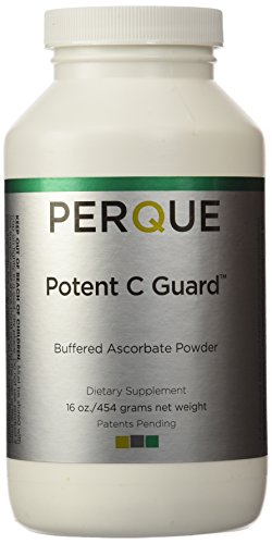 Perque Potent C Guard Powder, 16 Oz (Vitamin C Powder Buffered With Calcium And Magnesium)