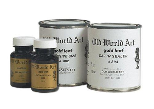 Old World Art Gold Leaf Medium Satin Sealer 2 oz Jar