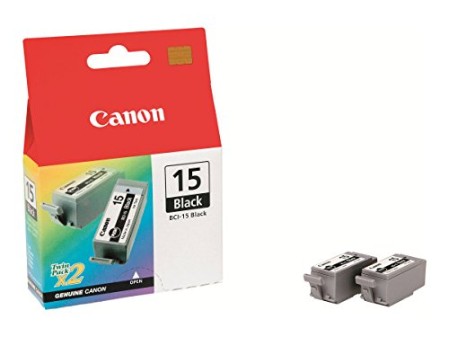 Ip90 Inkjet Printers (Canon BCI-15 Black Ink Cartridge (Twin Pack))