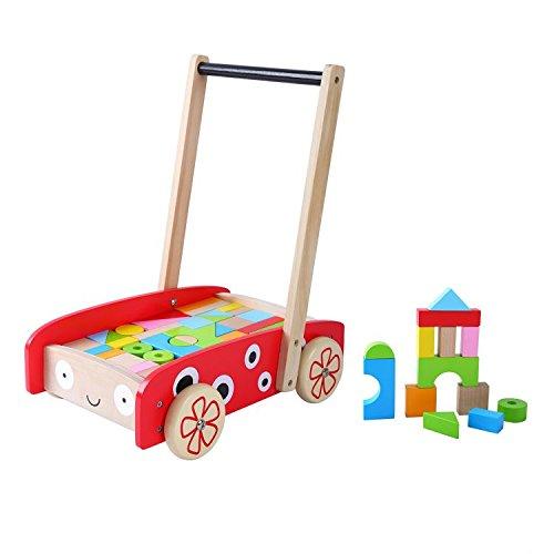 WoodWorking Lauflernwagen mit Baukl/ötzen Bauwagen Block and Roll 40 Blocks!!