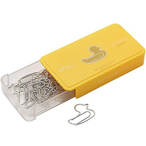 Midori D-Clip - Graffette per carta a forma di anatra - confezione da 30 pezzi 43147006